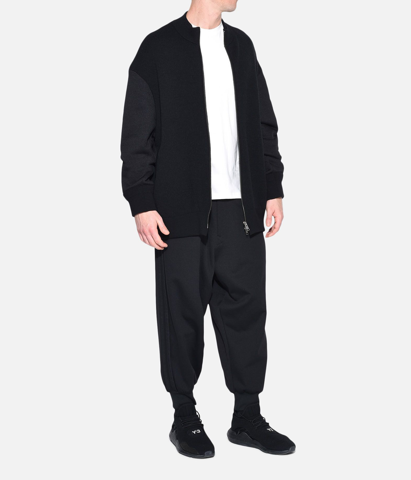 Y-3 Y-3 Knitted Stacked Logo Blouson Blazer Man a