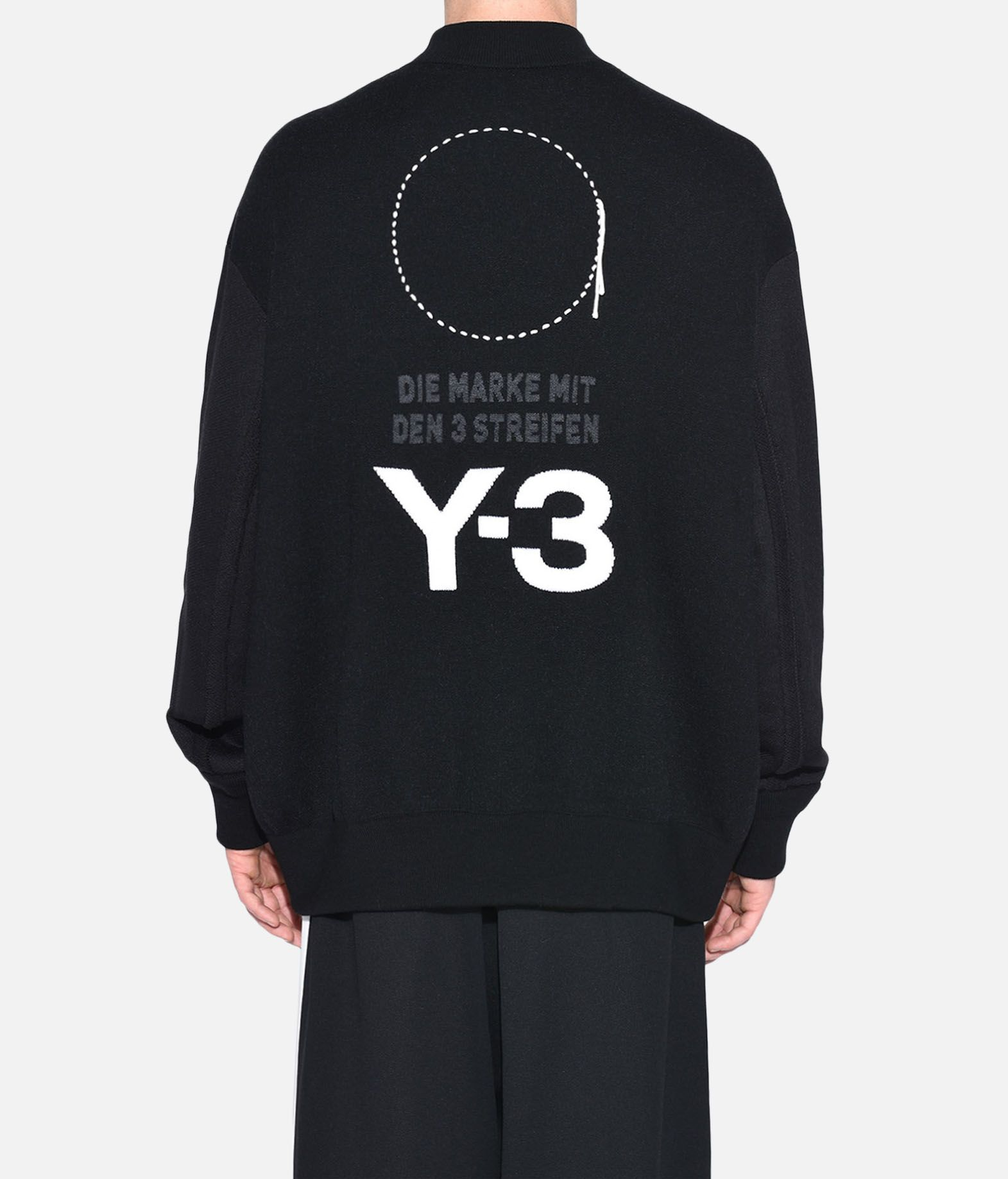 Y-3 Y-3 Knitted Stacked Logo Blouson Blazer Man d