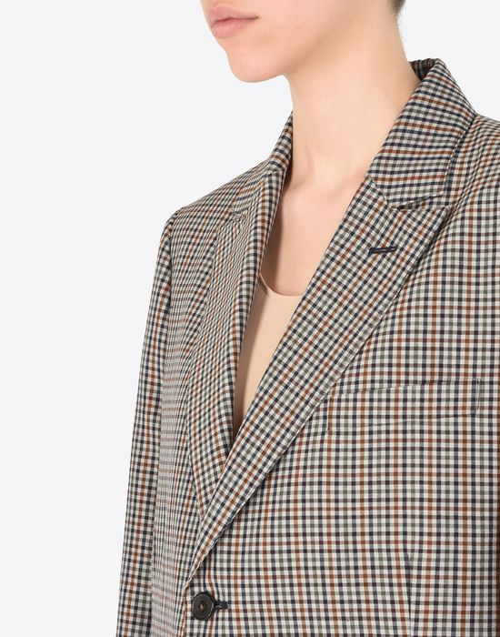 MAISON MARGIELA Check wool blend blazer Jacket Woman a