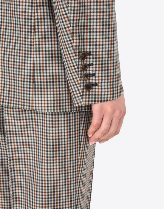 MAISON MARGIELA Check wool blend blazer Jacket Woman b