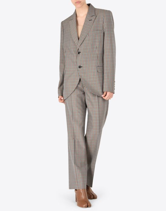 MAISON MARGIELA Check wool blend blazer Jacket Woman d