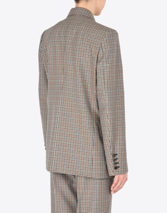 MAISON MARGIELA Check wool blend blazer Jacket Woman e