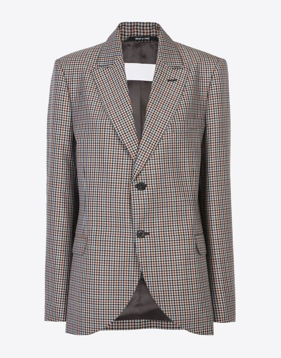 MAISON MARGIELA Check wool blend blazer Jacket Woman f