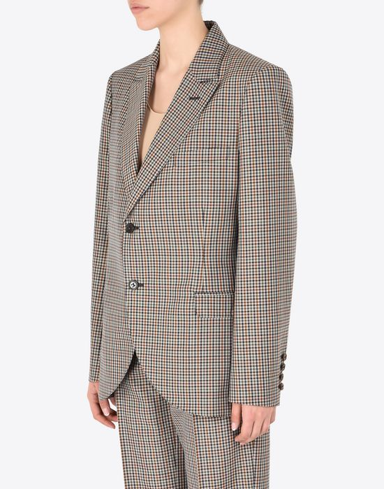 MAISON MARGIELA Check wool blend blazer Jacket Woman r