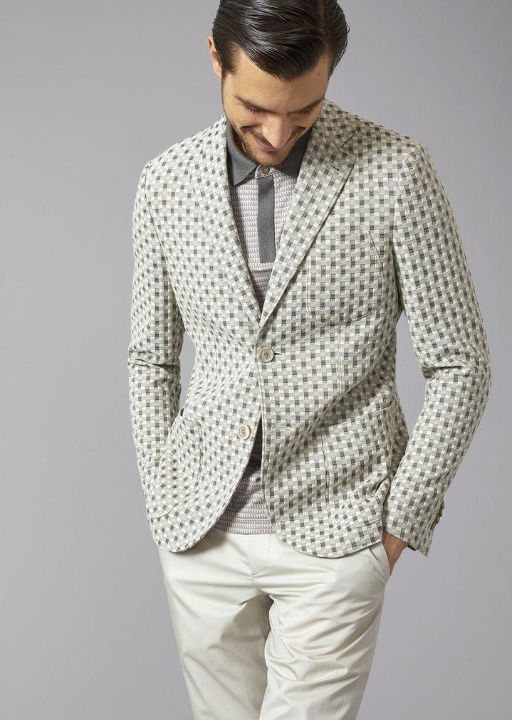 2fe028bc21823 Tokyo Jacket in jacquard fabric   Man   Giorgio Armani
