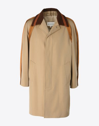 MAISON MARGIELA Raincoat Man Trench with inside-out seams f