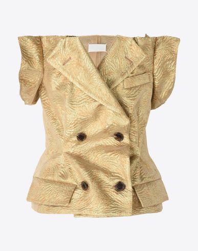 MAISON MARGIELA Waistcoat Woman Lurex trench bustier vest f