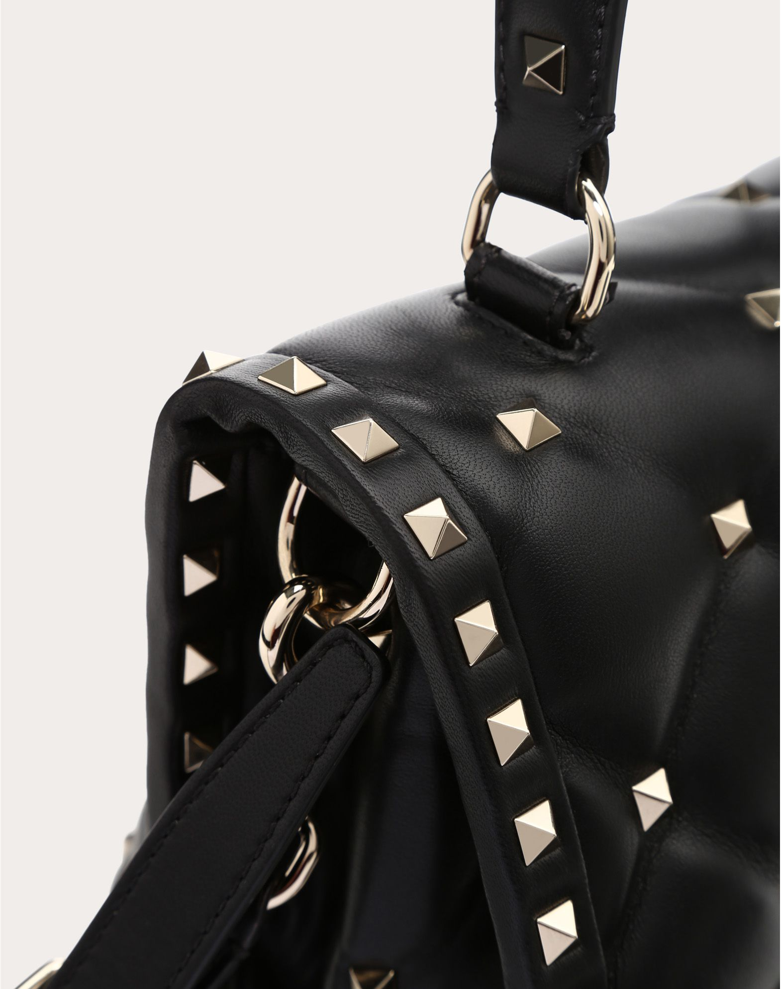 VALENTINO Candystud Top Handle Bag HANDBAG D e