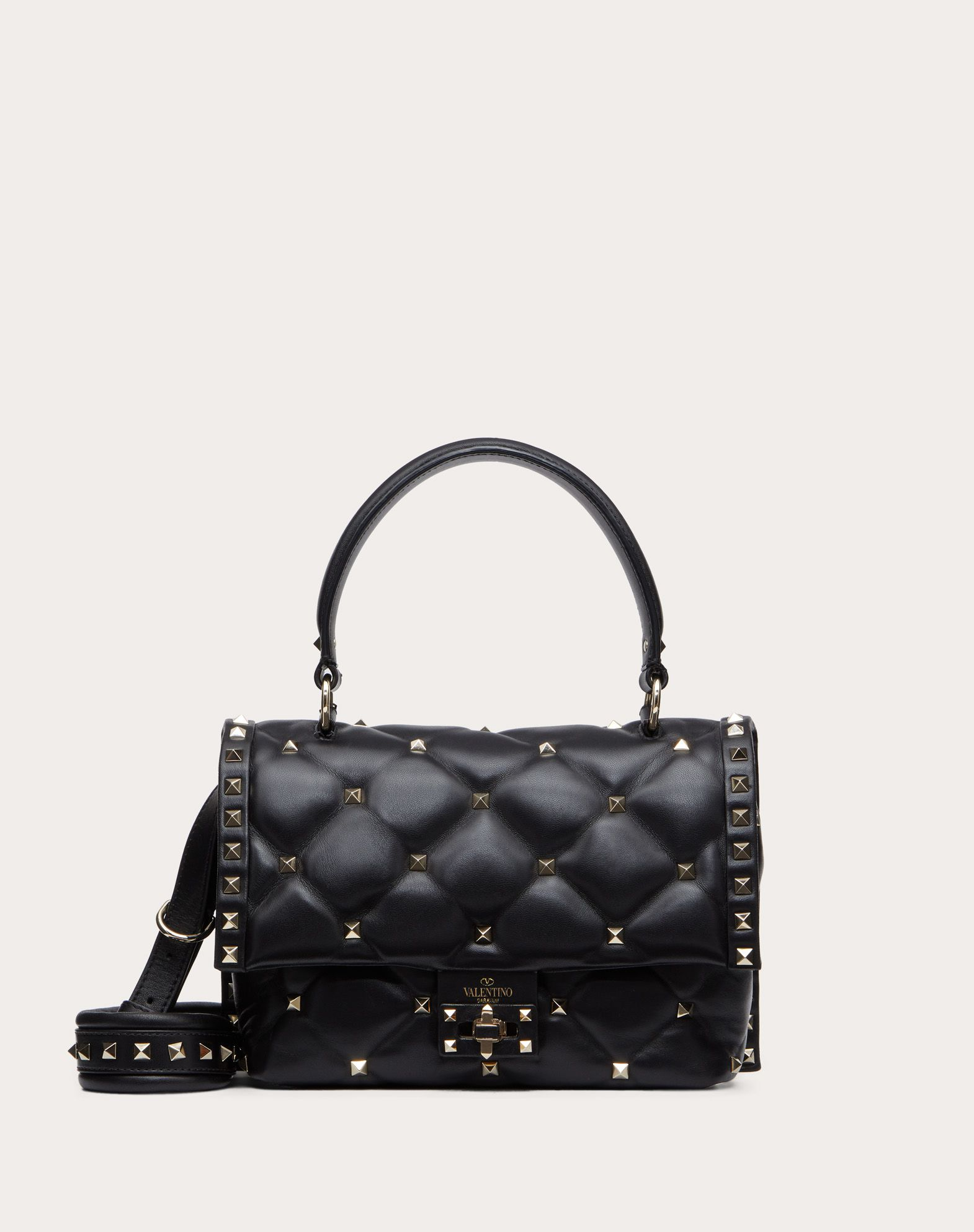 VALENTINO Candystud Top Handle Bag HANDBAG D f