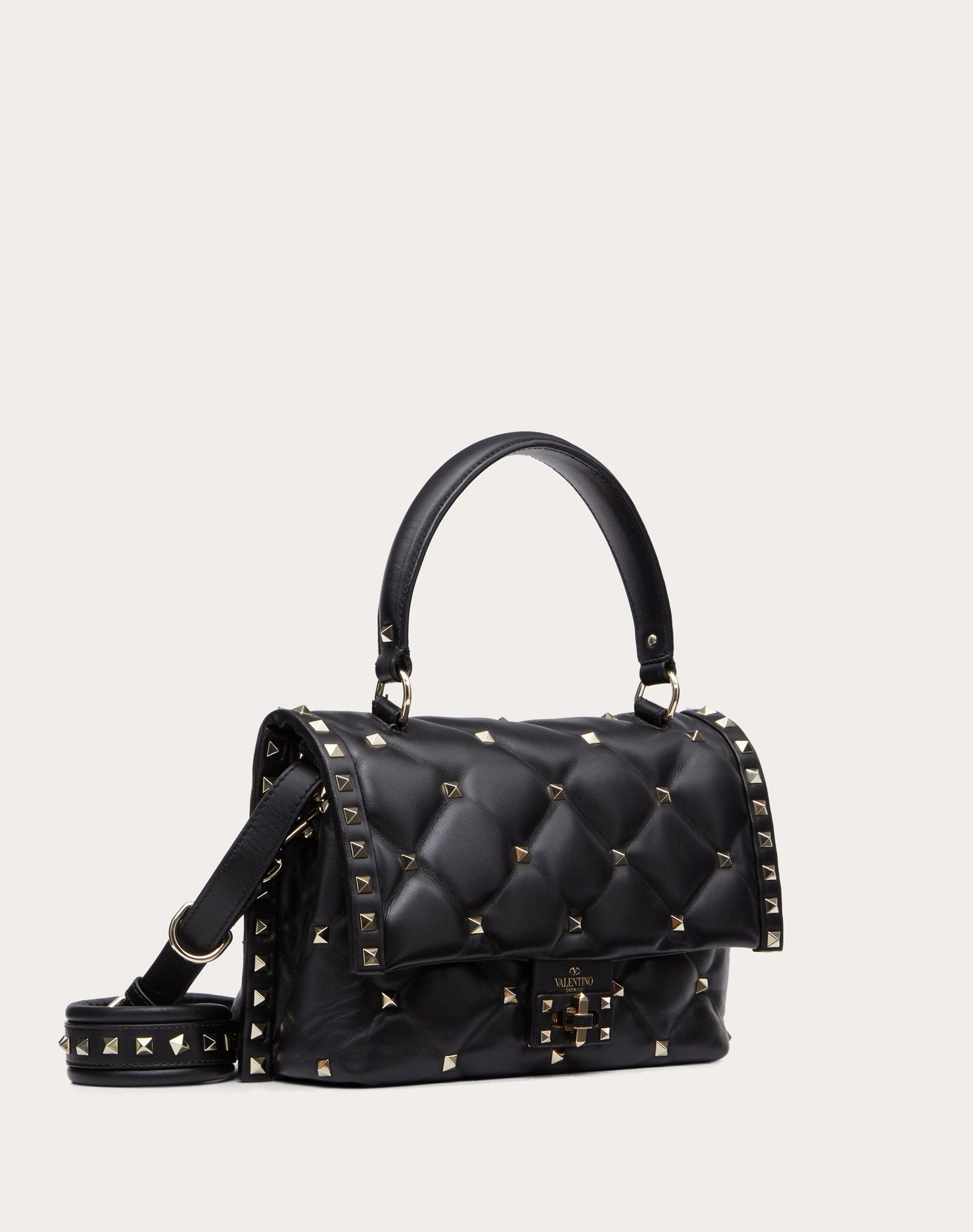 VALENTINO Candystud Top Handle Bag HANDBAG D r