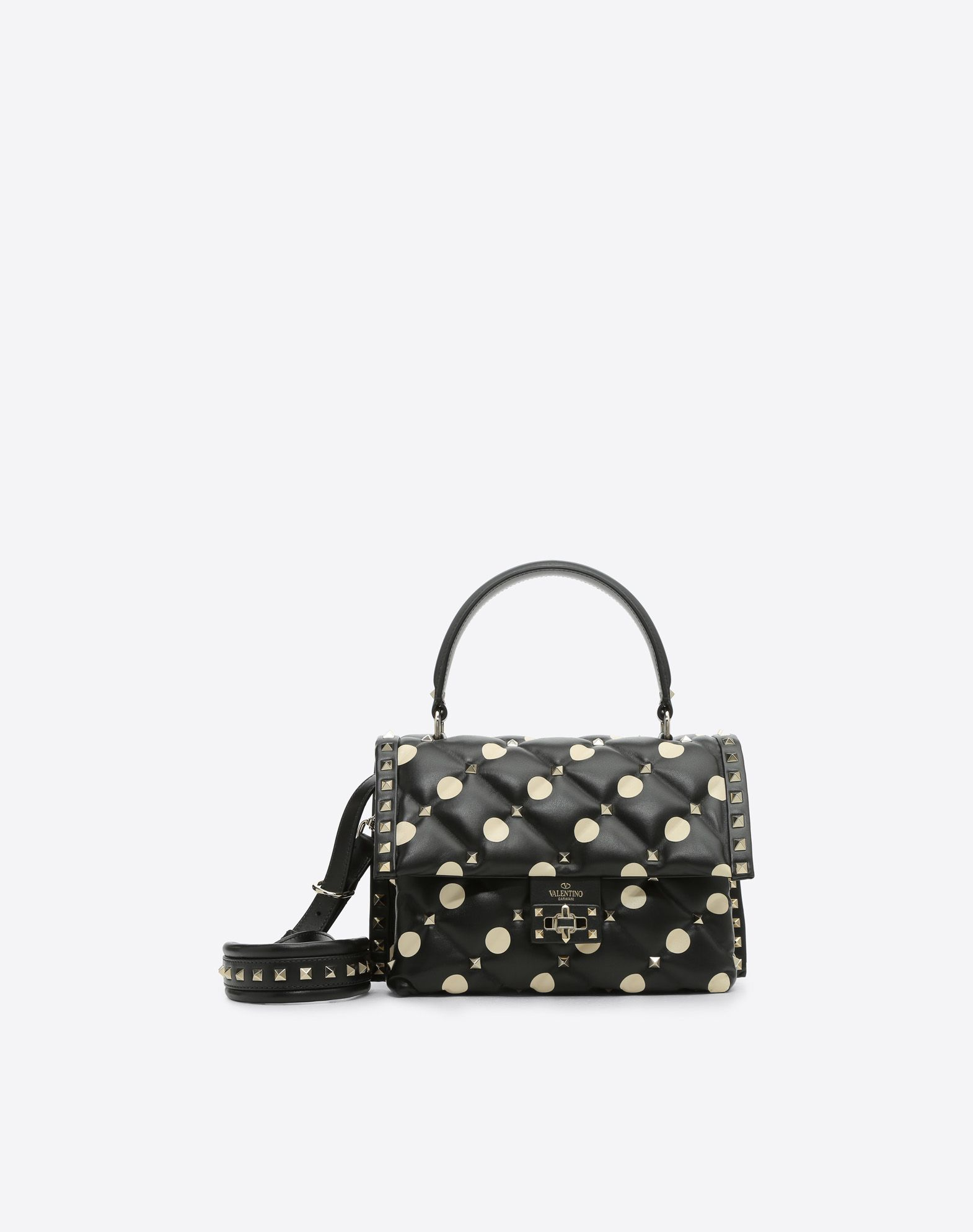 Valentino Candystud Quilted Leather Dome Top Handle Bag yXv6JJw