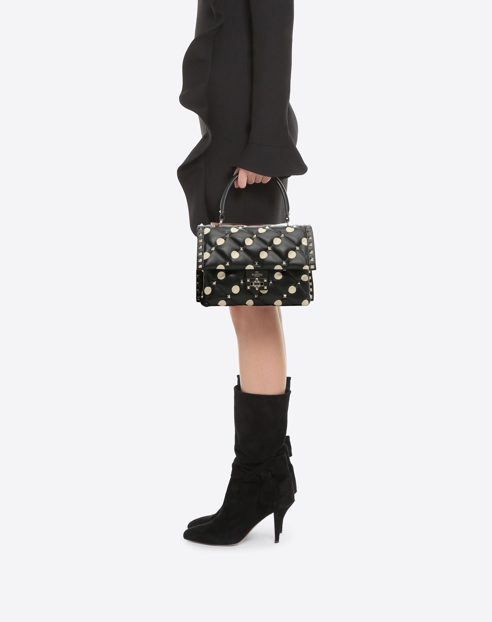 VALENTINO GARAVANI Candystud Top Handle Bag HANDBAG D a