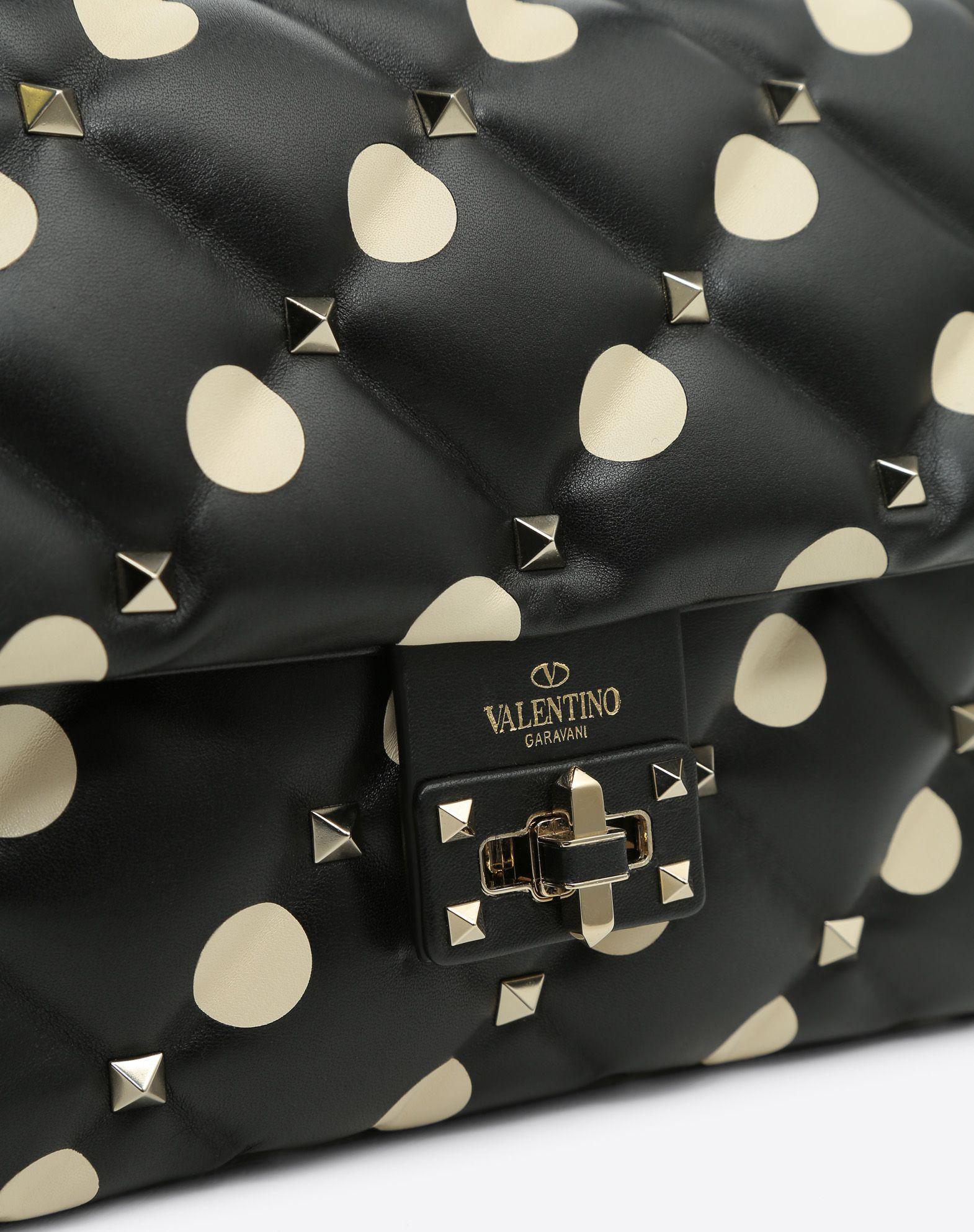 VALENTINO GARAVANI Candystud Top Handle Bag HANDBAG D b