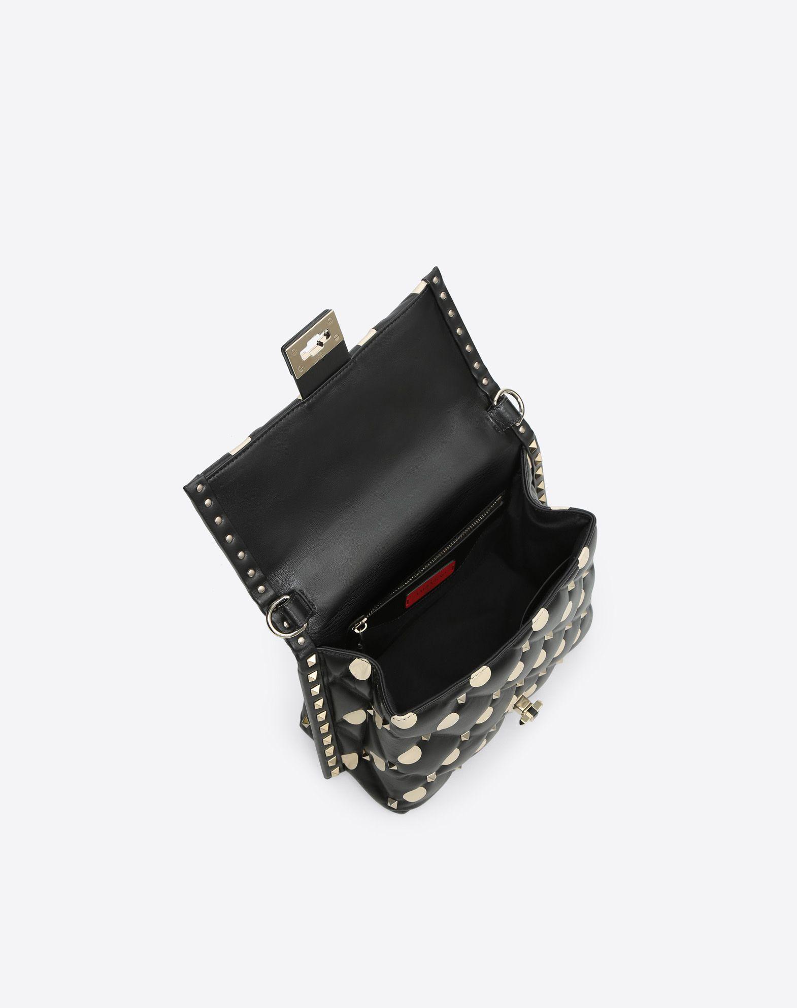 VALENTINO GARAVANI Candystud Top Handle Bag HANDBAG D e