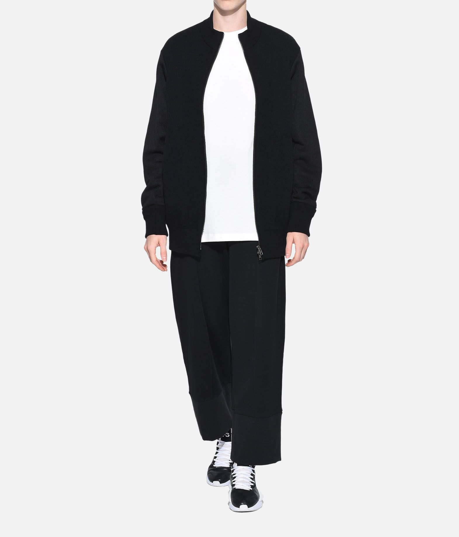 Y-3 Y-3 Knitted Stacked Logo Blouson Blazer Woman a