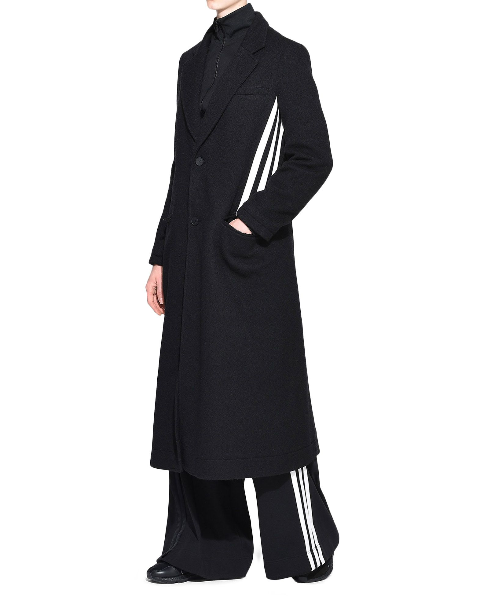 Y-3 Y-3 3-Stripes Tailored Wool Coat Blazer Woman a