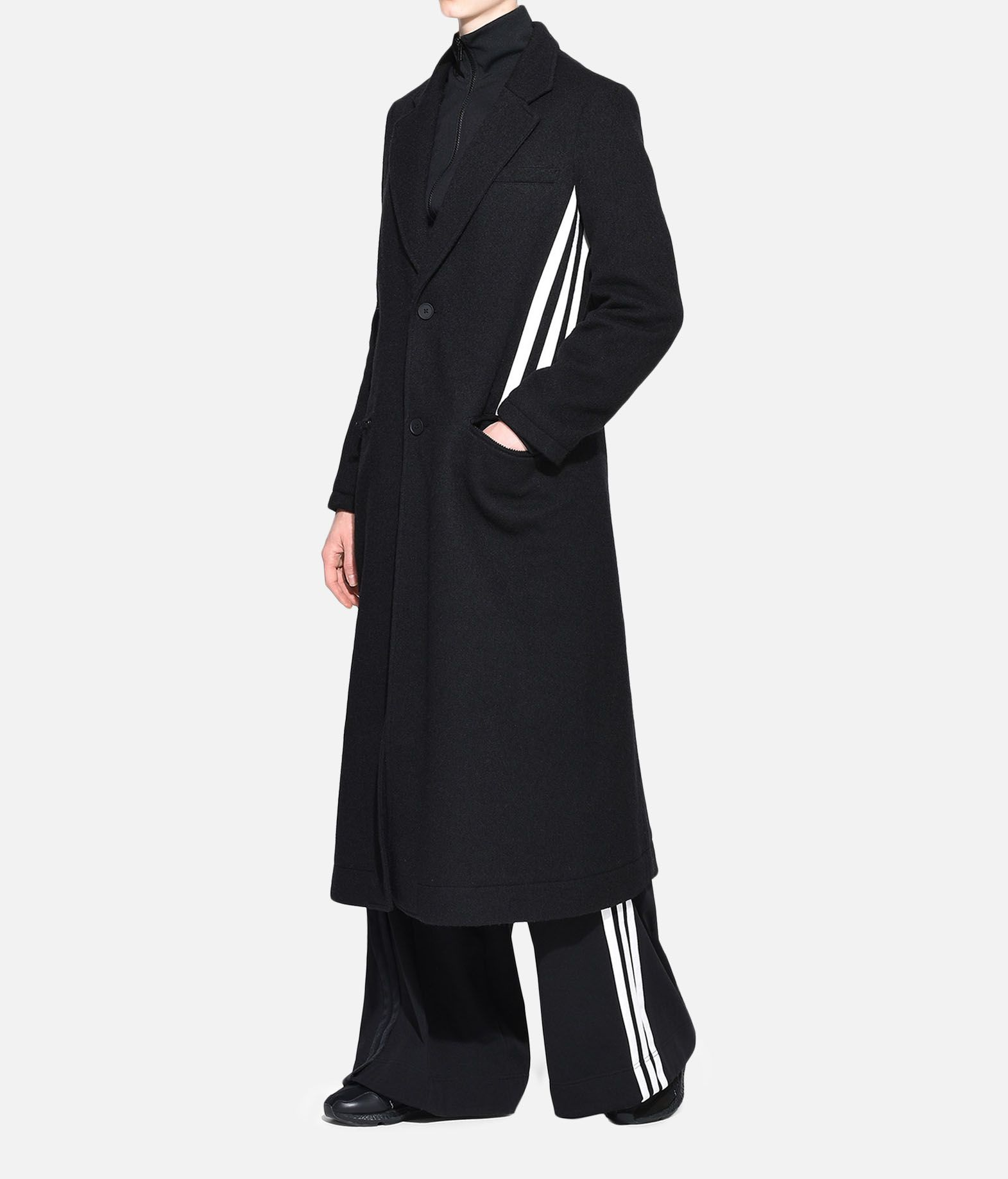 Y-3 Y-3 3-Stripes Tailored Wool Coat Blazer Damen a