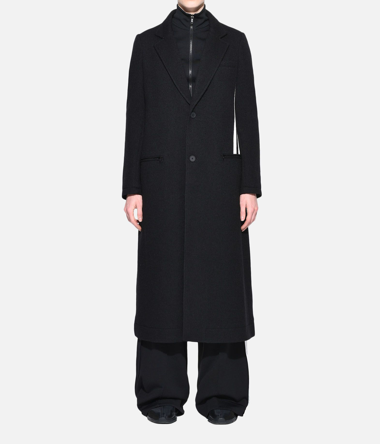 Y-3 Y-3 3-Stripes Tailored Wool Coat Blazer Woman r