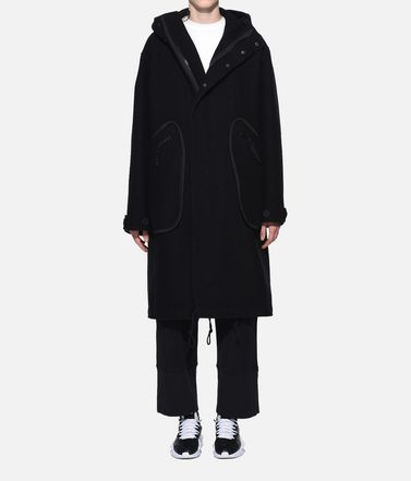 Y-3 Coat Woman Y-3 Reversible Wool Parka r