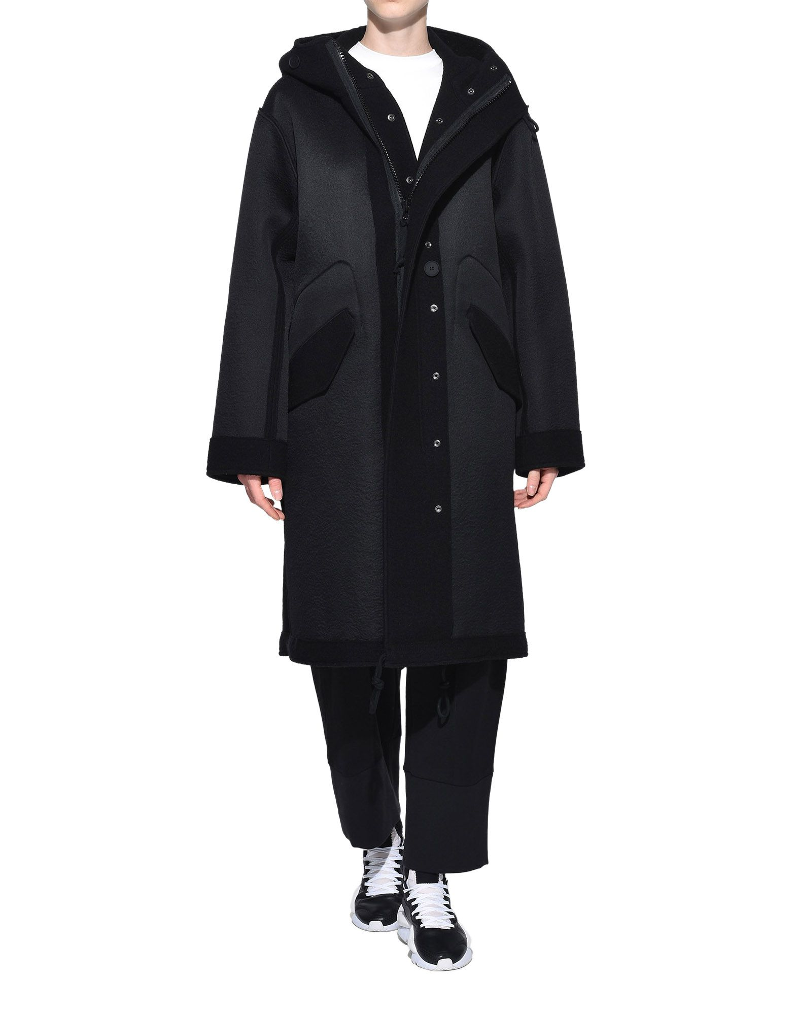 Y-3 Y-3 Reversible Wool Parka Coat Woman a
