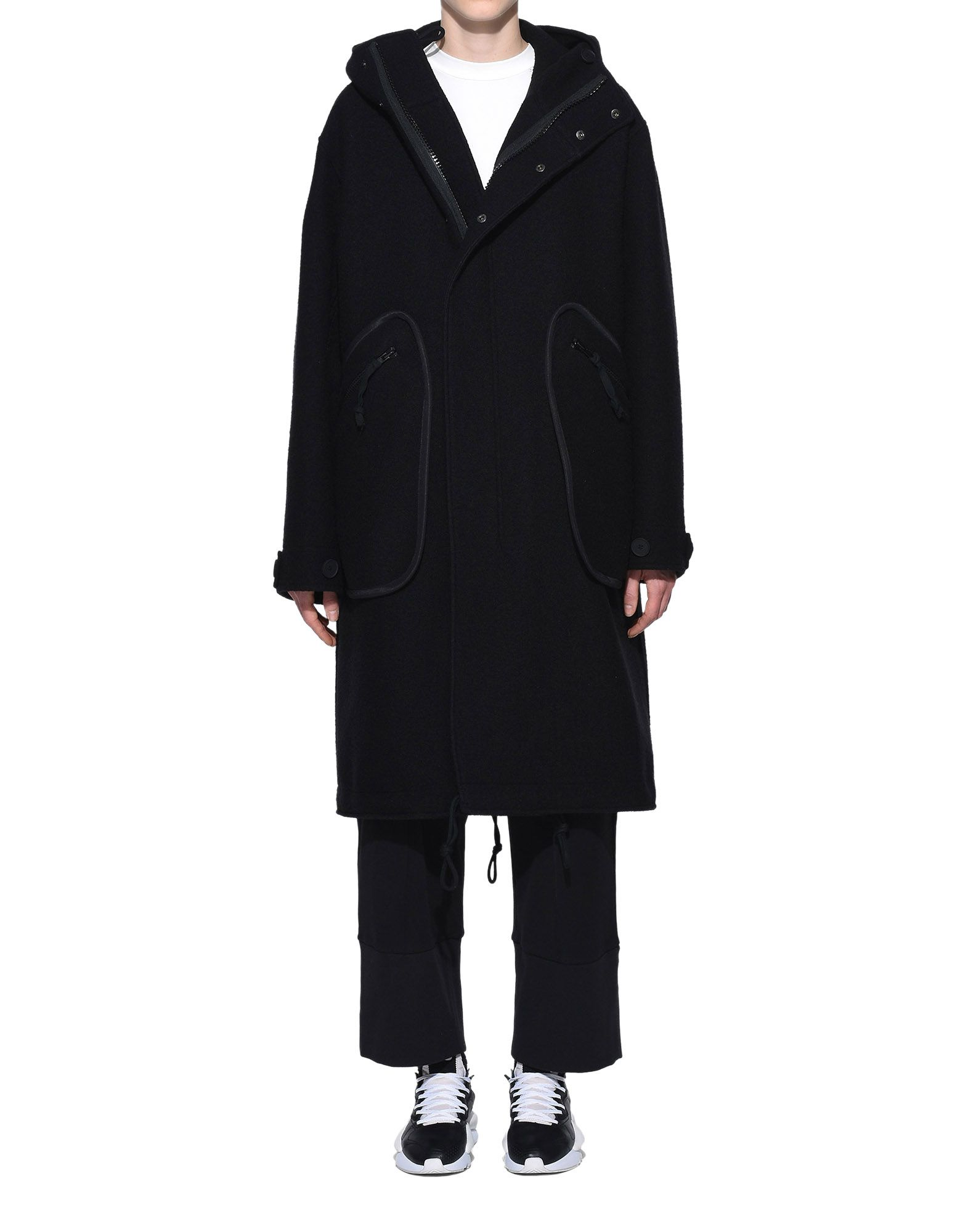 Y-3 Y-3 Reversible Wool Parka Coat Woman r
