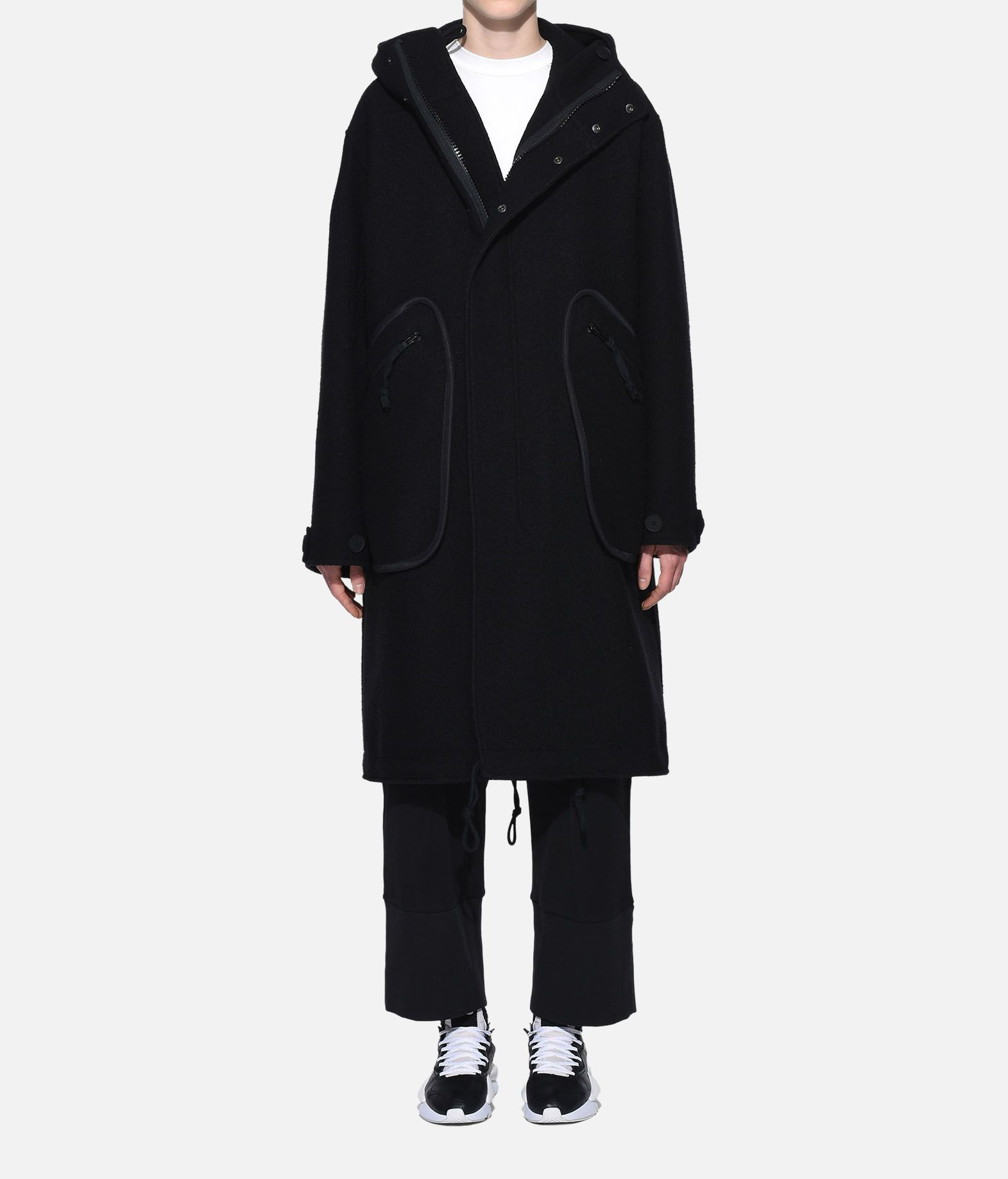 Y-3 Y-3 Reversible Wool Parka Coat Woman r