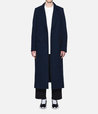 Y-3 Coat Woman Y-3 3-Stripes Tailored Wool Coat r