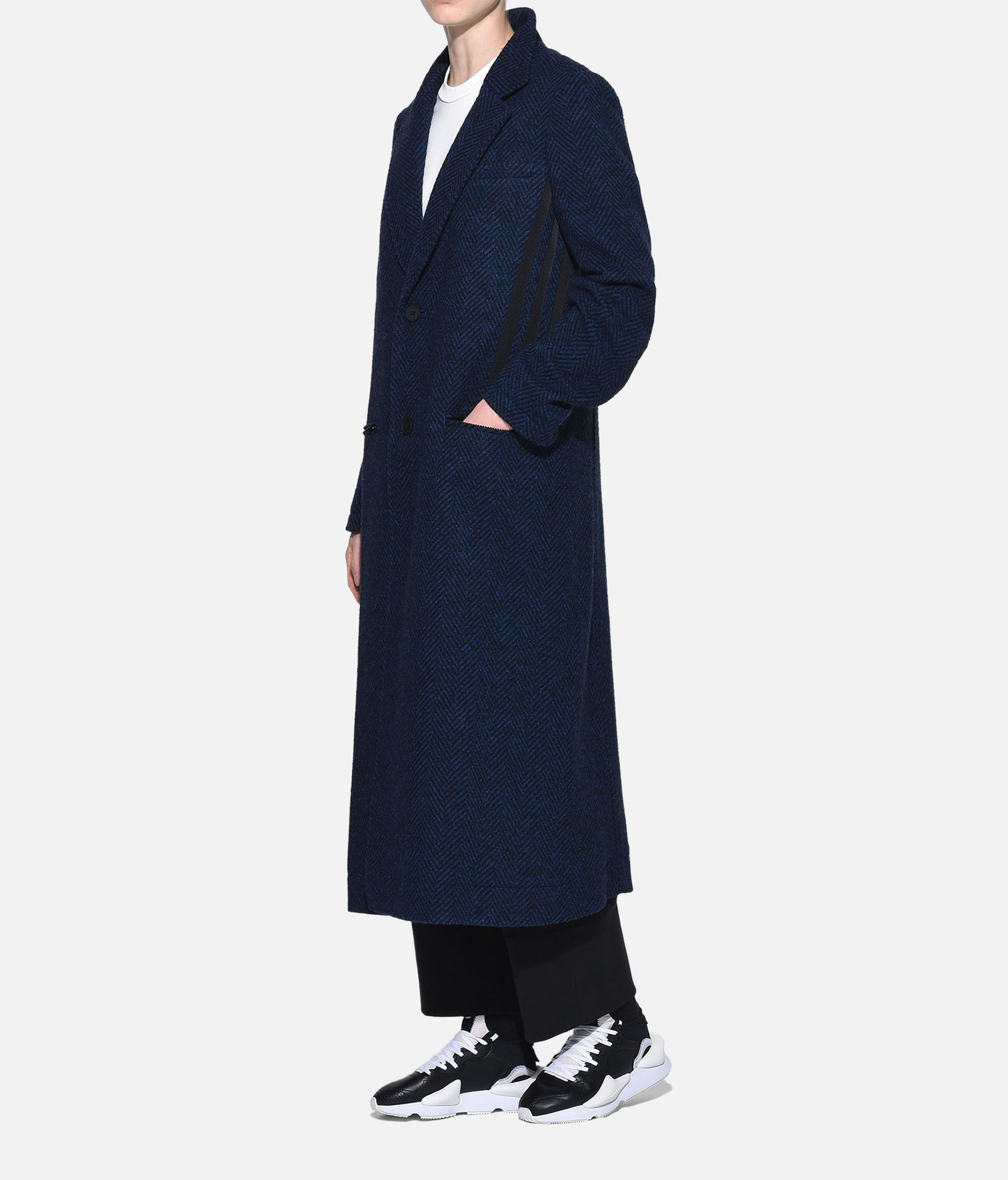 Y-3 Y-3 3-Stripes Tailored Wool Coat Coat Woman a