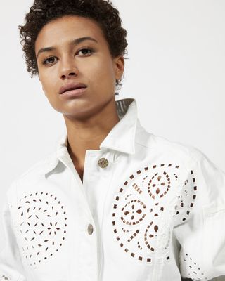 ISABEL MARANT JACKET Woman RENA embroidered denim jacket  r