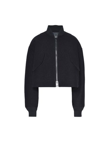 Y-3 Reversible Cropped Wool Bomber Jacket