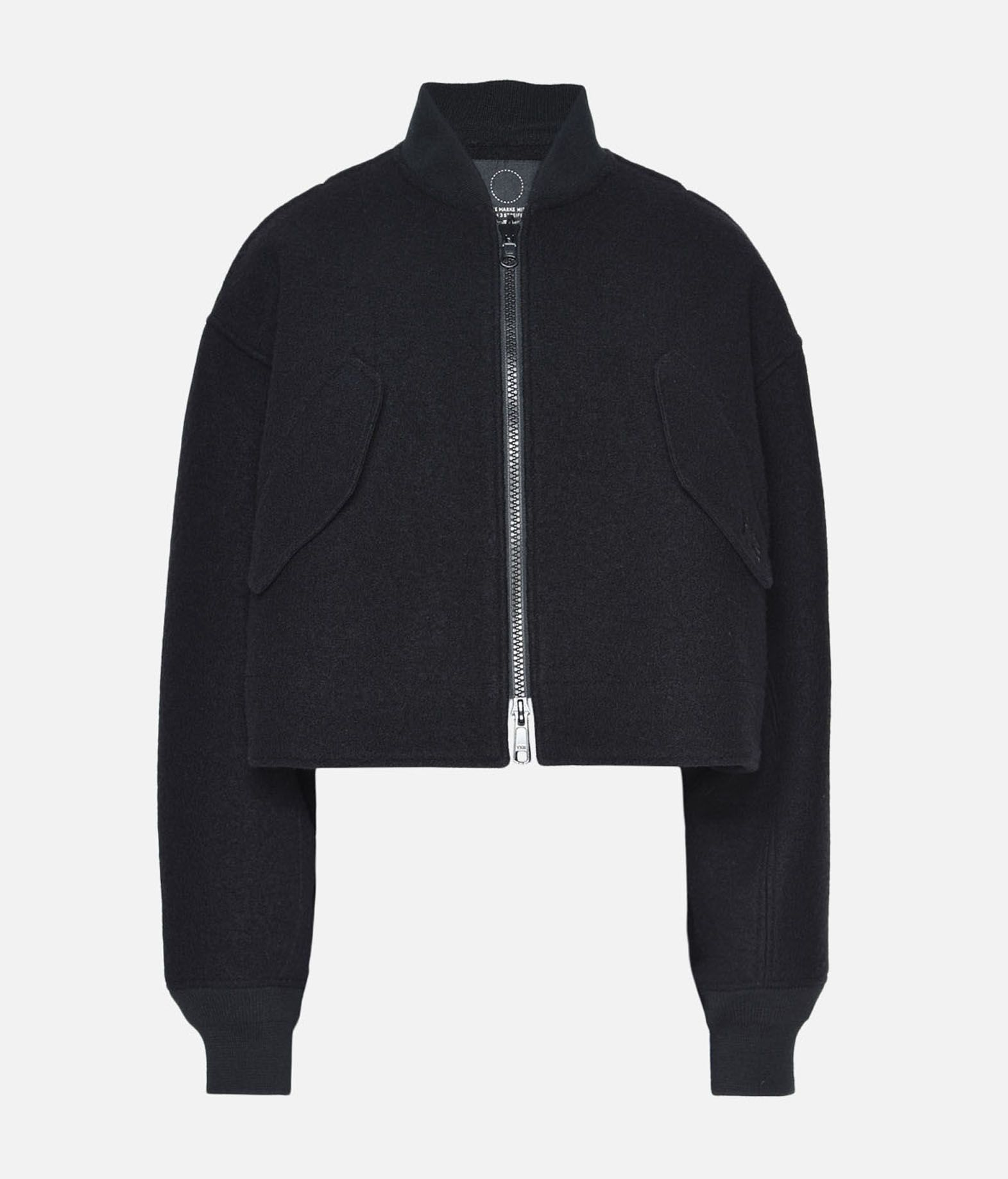 Y-3 Y-3 Reversible Cropped Wool Bomber Jacket Jacket Woman f