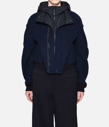 Y-3 Jacket Woman Y-3 Wool Hoodie Jacket r