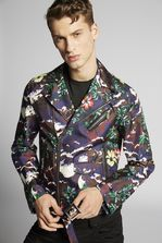 DSQUARED2 Printed Silk Bonded Kiodo Jacket Kaban Man