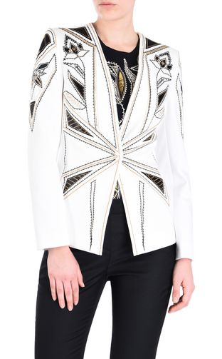 JUST CAVALLI Jacket [*** pickupInStoreShipping_info ***] Jacket with patent details f