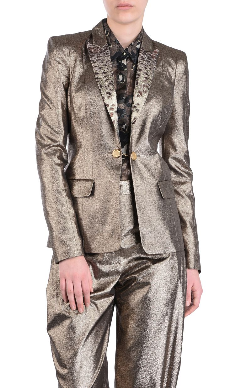 JUST CAVALLI Blazer with animal-print lapels Blazer [*** pickupInStoreShipping_info ***] f