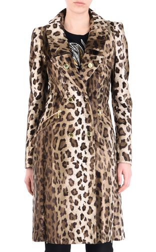 JUST CAVALLI Coat [*** pickupInStoreShipping_info ***] Leopard-print coat f
