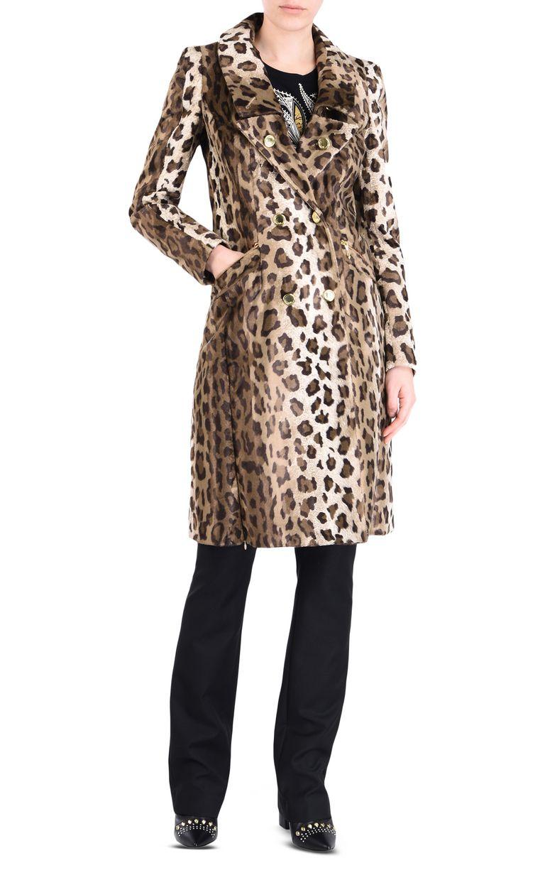 JUST CAVALLI Leopard-print coat Coat [*** pickupInStoreShipping_info ***] r