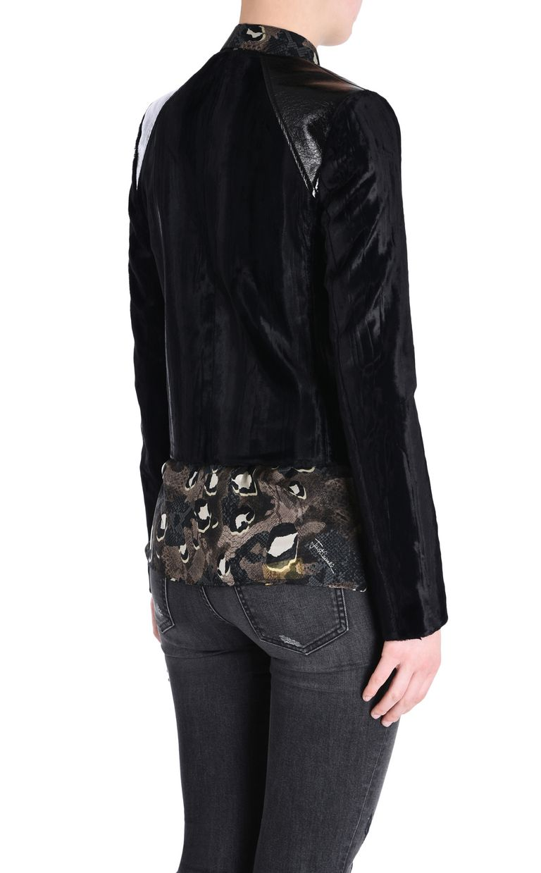 JUST CAVALLI Jacket with patent details Jacket [*** pickupInStoreShipping_info ***] d