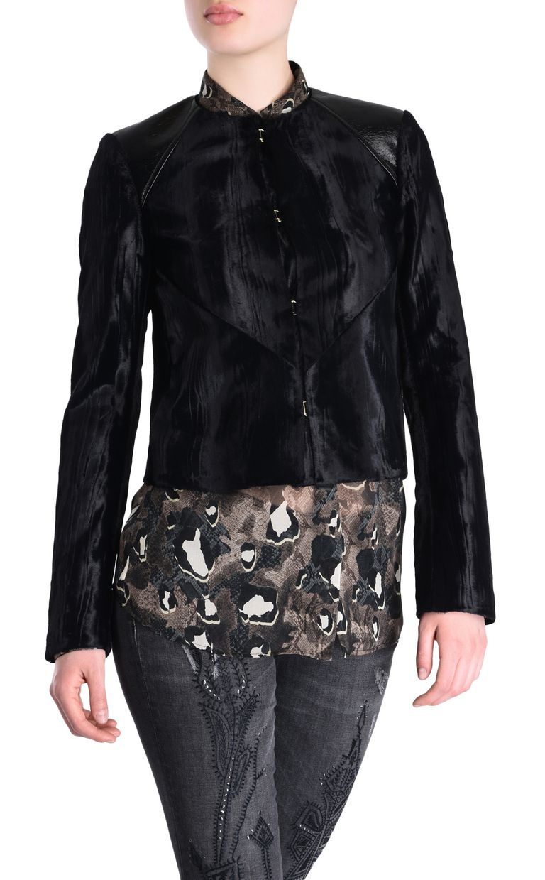 JUST CAVALLI Jacket with patent details Jacket [*** pickupInStoreShipping_info ***] f