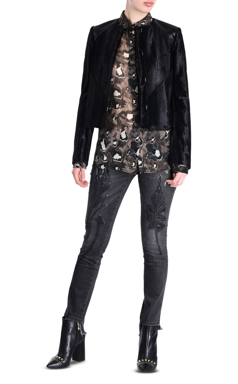 JUST CAVALLI Jacket with patent details Jacket [*** pickupInStoreShipping_info ***] r