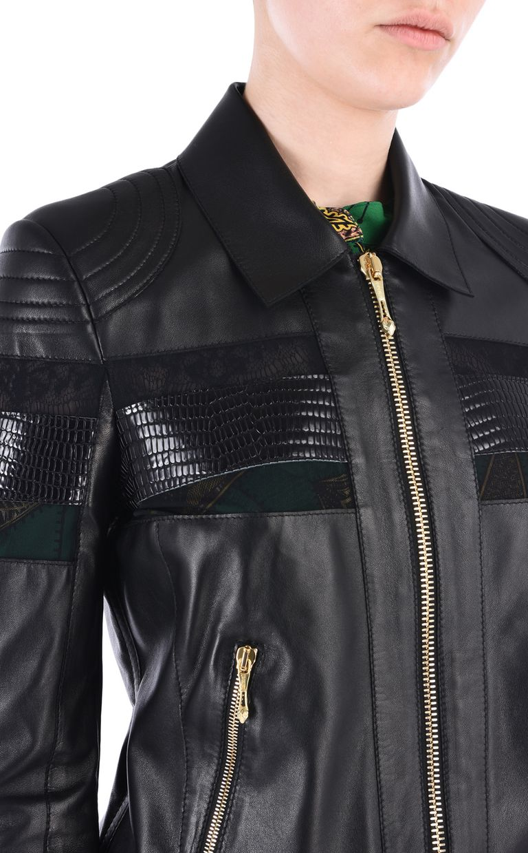 JUST CAVALLI Leather biker jacket Leather Jacket [*** pickupInStoreShipping_info ***] e