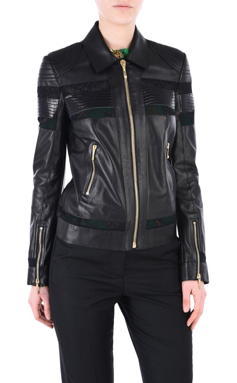 JUST CAVALLI Leather biker jacket Leather Jacket [*** pickupInStoreShipping_info ***] f