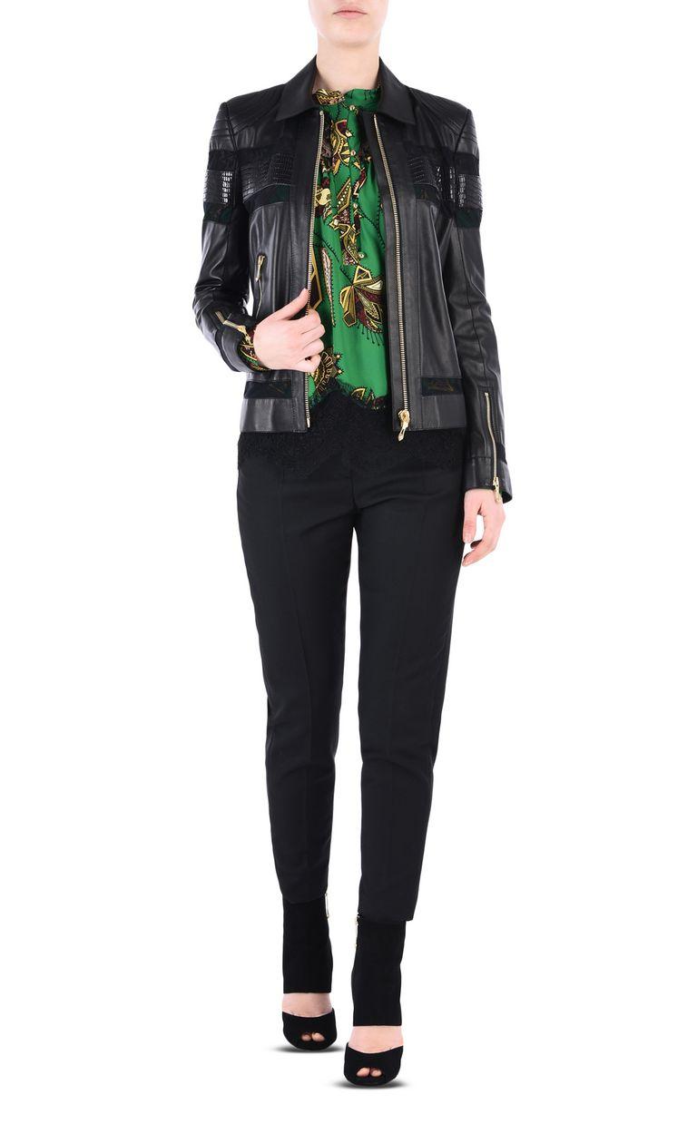 JUST CAVALLI Leather biker jacket Leather Jacket [*** pickupInStoreShipping_info ***] r