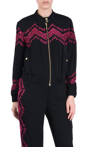 JUST CAVALLI Jacket Woman Jacket with embroidery details f