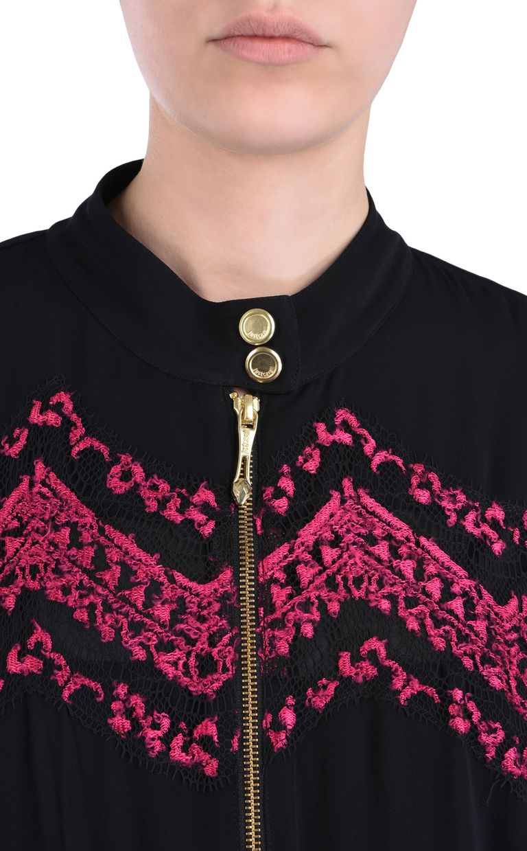 JUST CAVALLI Jacket with embroidery details Jacket Woman e