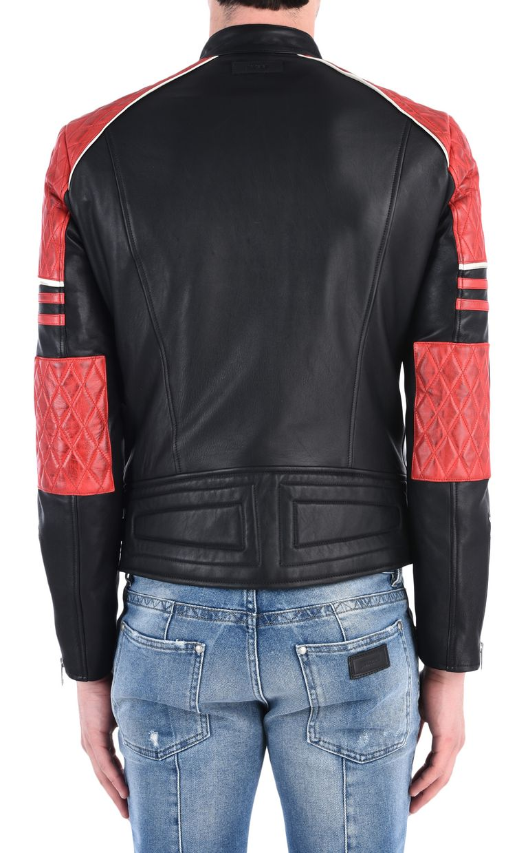 JUST CAVALLI Quilted leather jacket Leather Jacket Man d