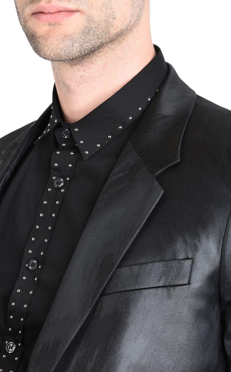 JUST CAVALLI Elegant high-shine blazer Blazer [*** pickupInStoreShippingNotGuaranteed_info ***] e