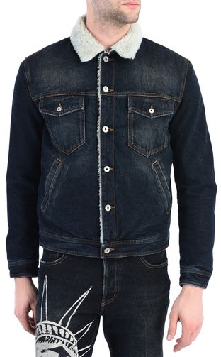 JUST CAVALLI Jacket Man Padded denim jacket f