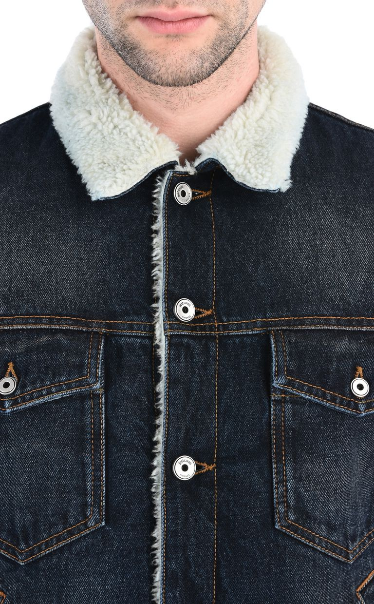 JUST CAVALLI Padded denim jacket Jacket Man e