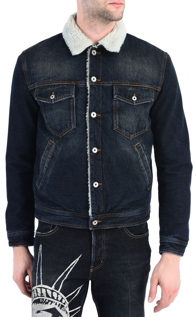 JUST CAVALLI Padded denim jacket Jacket Man f